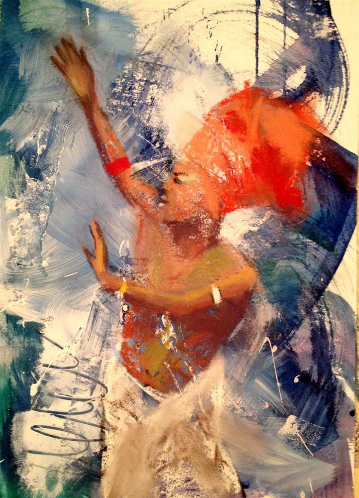 """Carnaval II, 9x12"" original fine art by Ann Feldman"