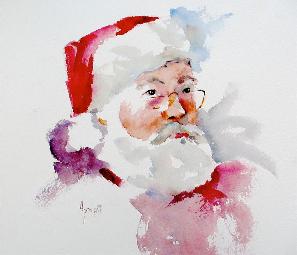 """Santa #1 2012"" original fine art by Anne Marie Propst"