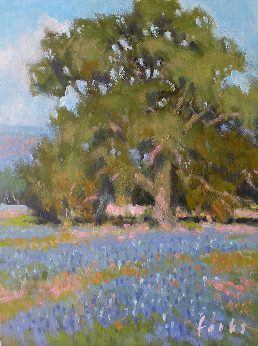 """Boerne Oak"" original fine art by David Forks"