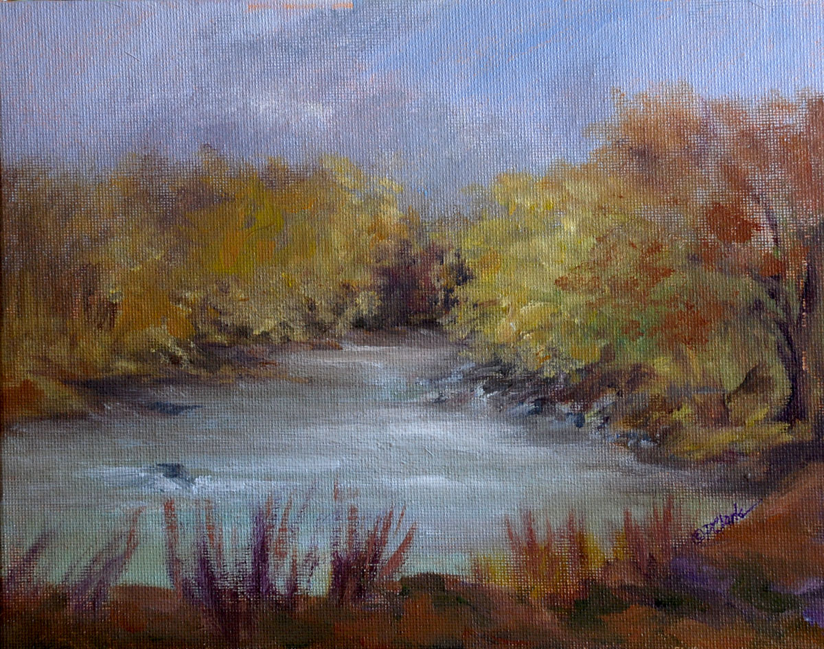 """Singing Waters"" original fine art by Donna Pierce-Clark"