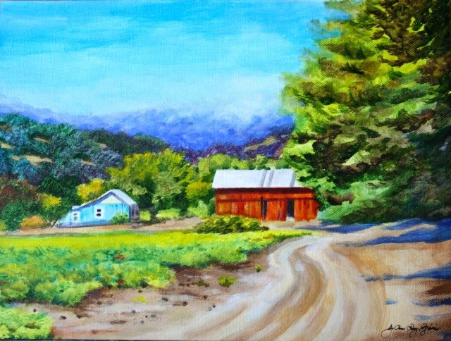 """Trail to Hoey Barn"" original fine art by JoAnne Perez Robinson"
