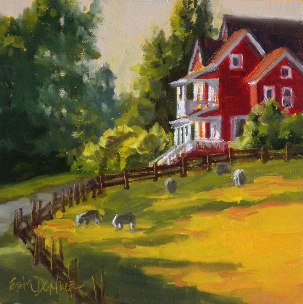 """Country Elegance"" original fine art by Erin Dertner"