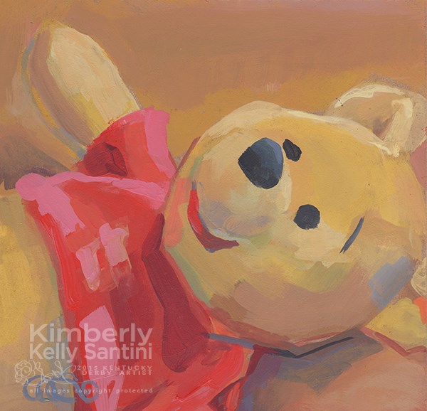 """Pooh Bear"" original fine art by Kimberly Santini"
