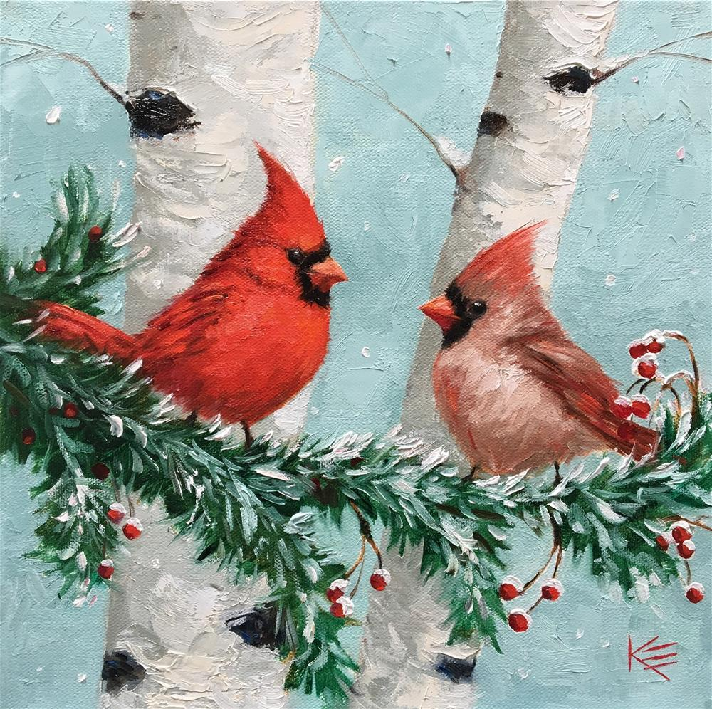 """Christmas Angels"" original fine art by Krista Eaton"