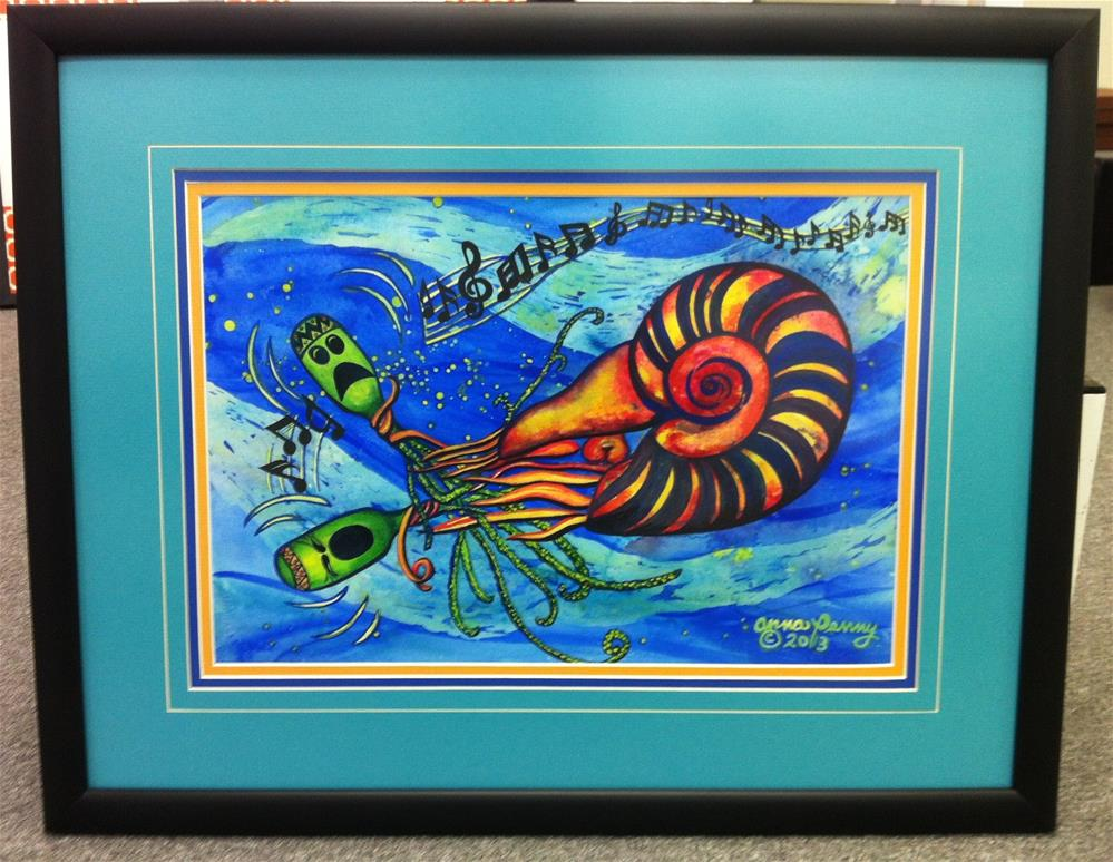"""Seafood Blues and Jazz Festival"" original fine art by Anna Penny"