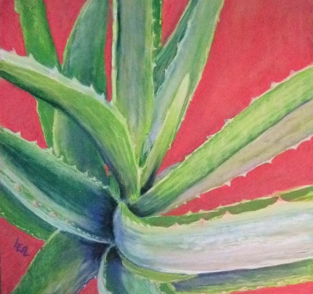 """Aloe Mandala"" original fine art by Anna Lisa Leal"