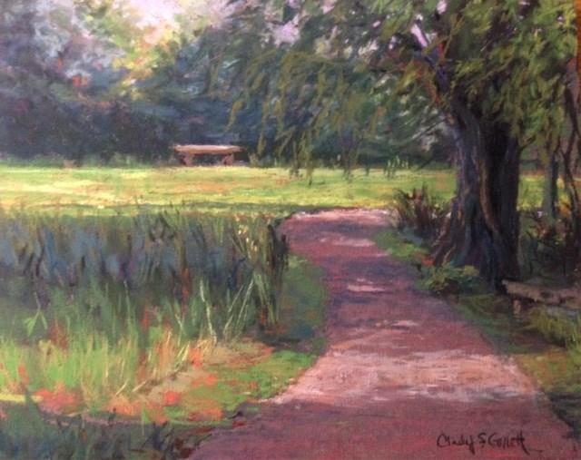 """Streaming Sunlight"" original fine art by Cindy Gillett"