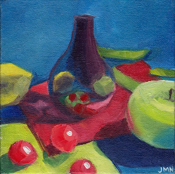"""Reflections in a Purple Vase"" original fine art by J M Needham"
