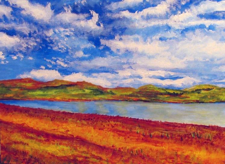 """""""RGB View"""" original fine art by Nan Johnson"""