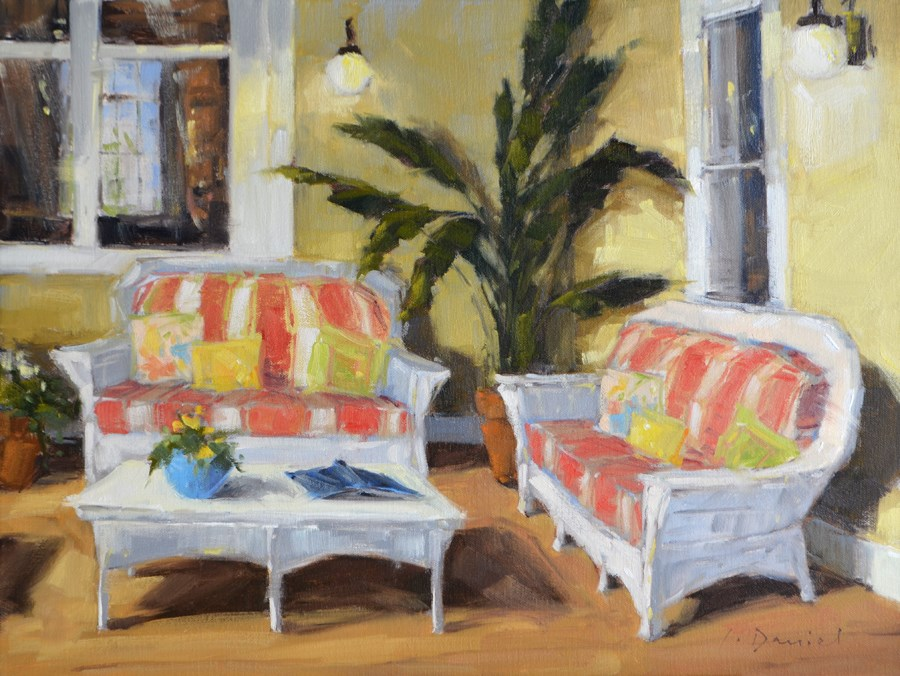 """Reading Porch - Show Tip #5"" original fine art by Laurel Daniel"