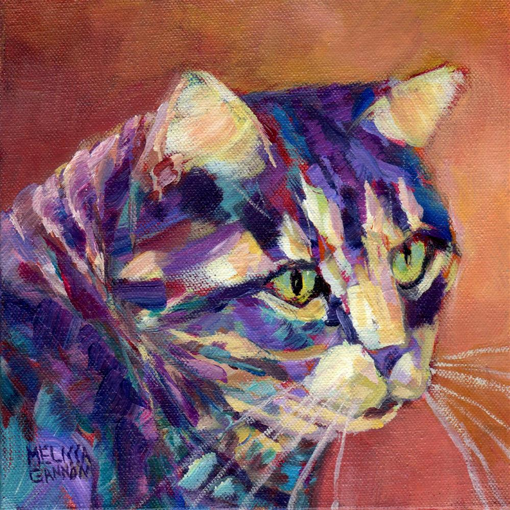 """Kitty Daydreaming"" original fine art by Melissa Gannon"