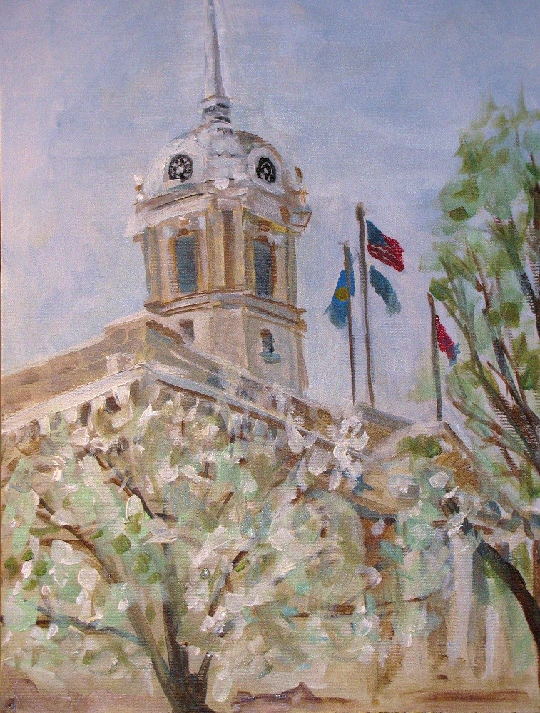 """Early Spring Day in Columbia"" original fine art by Susan Elizabeth Jones"