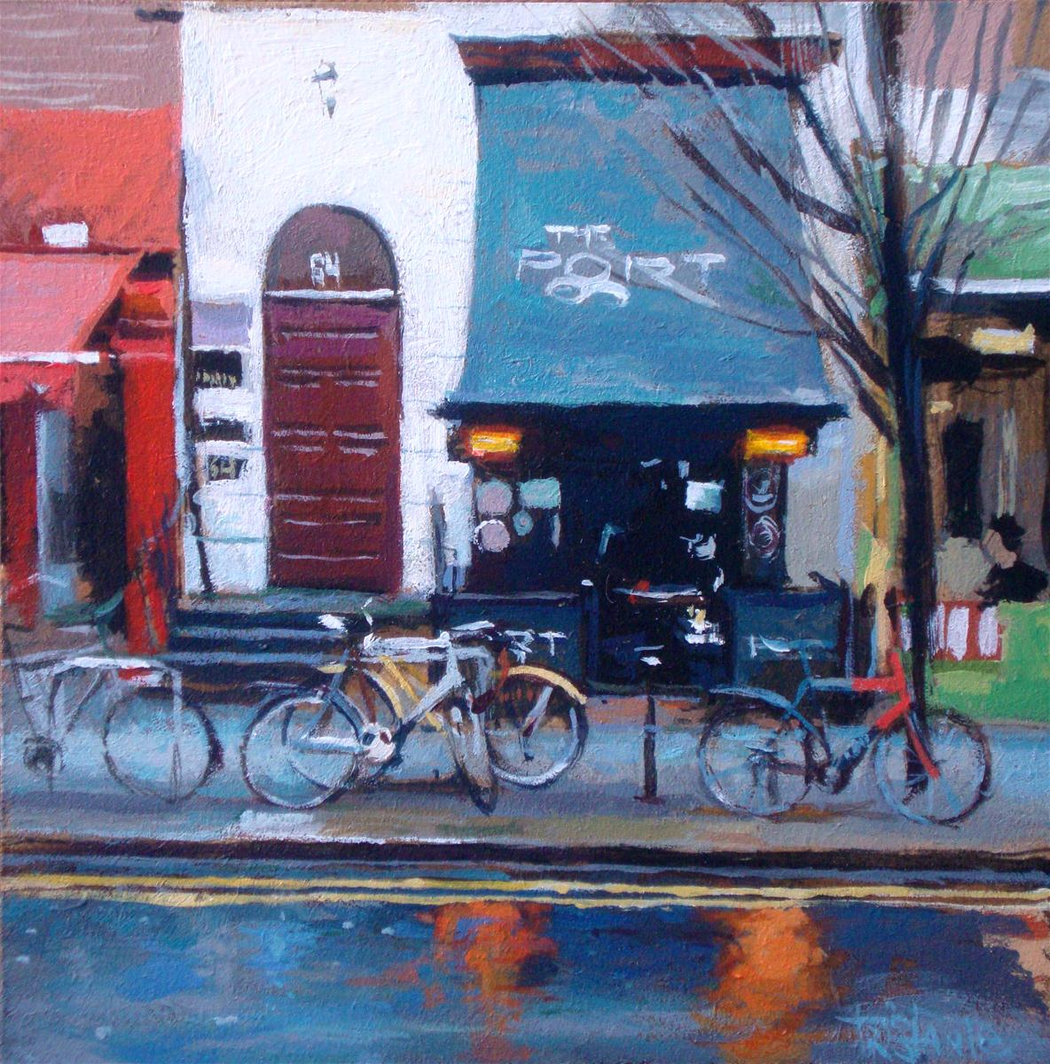 """""""Edimburg bikes"""" original fine art by Víctor Tristante"""