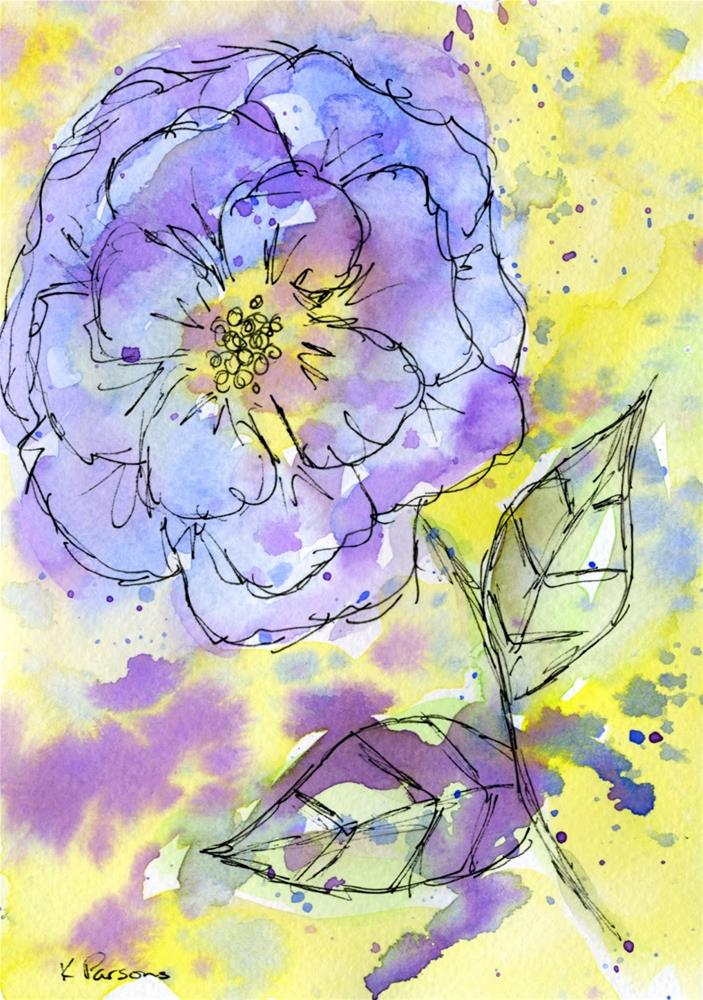 """Purple Rain Flower"" original fine art by Kali Parsons"