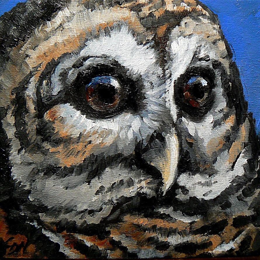 """Watchful Eyes"" original fine art by Carol Nelson"