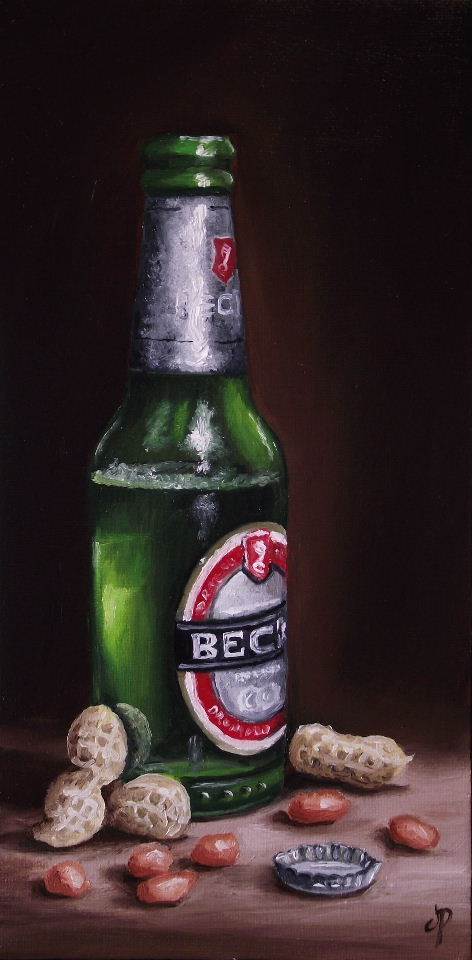 """Beer and Peanuts"" original fine art by Jane Palmer"