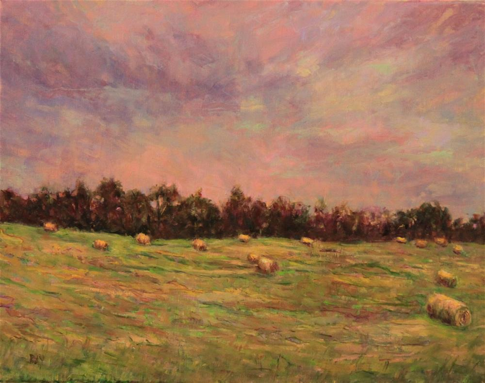 """Linda's Hayfield"" original fine art by barbara yongue"
