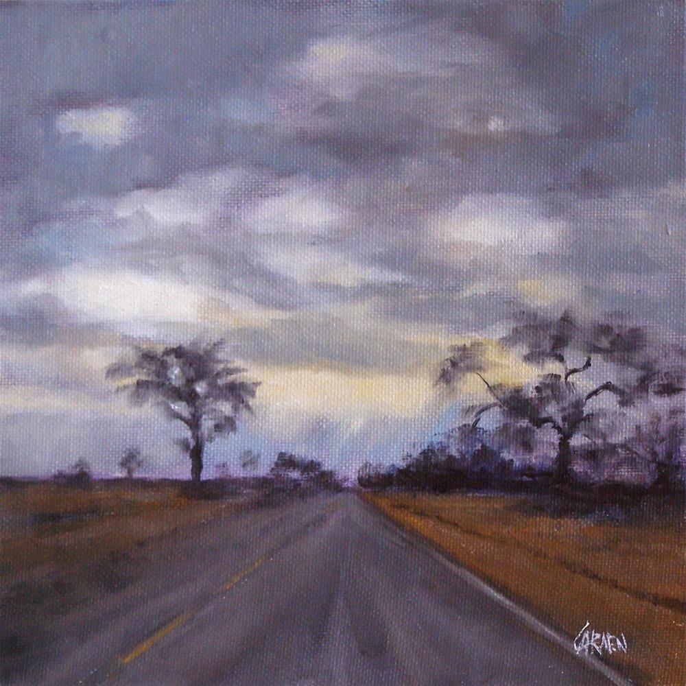 """""""Sunrise in the Heartland, 8 x 8 Oil on Canvas"""" original fine art by Carmen Beecher"""
