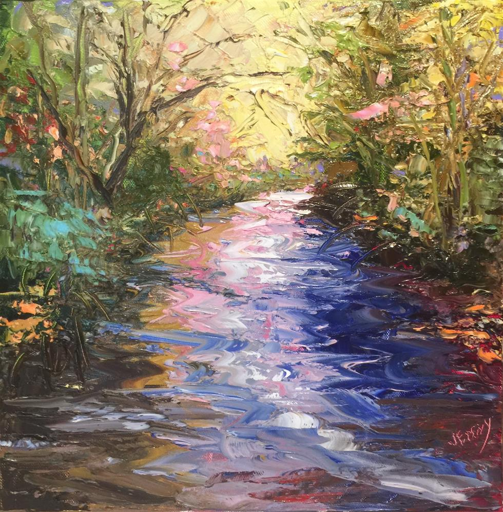 """Colors of Water"" original fine art by Jenny Buckner"