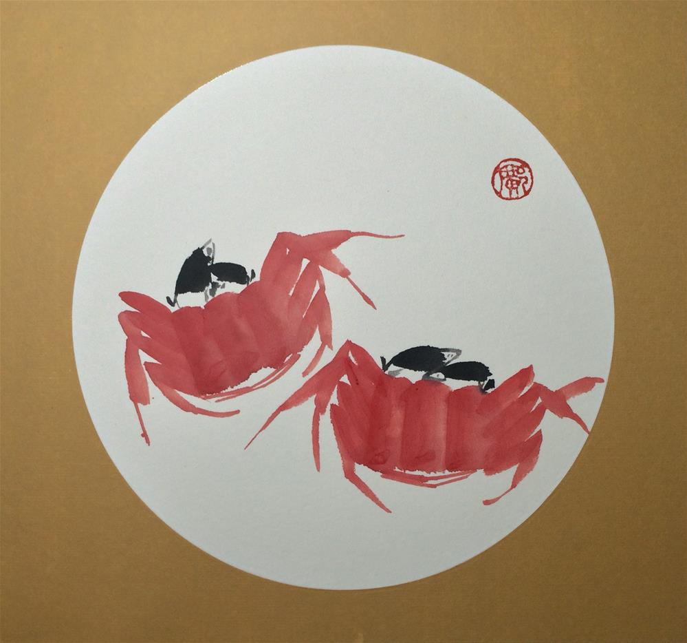 """Crab"" original fine art by R kwong"
