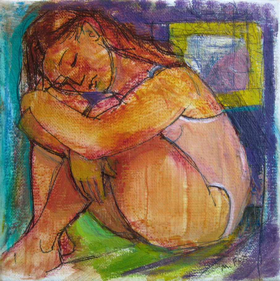 """Figurative painting, woman, figure study, original art, figurative artist"" original fine art by Marie Fox"