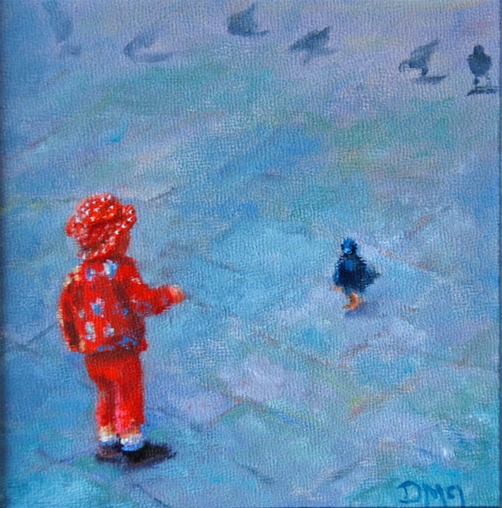 """Making Friends"" original fine art by Dorothy McLennan"