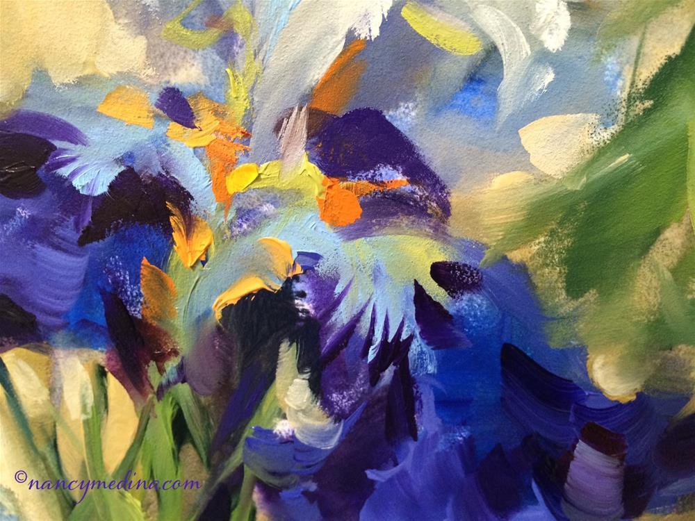 """Purple Dreamers - Nancy Medina Videos and Art Classes"" original fine art by Nancy Medina"