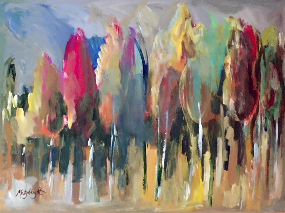 """""""Can't See The Forest For The Trees"""" original fine art by Molly Wright"""