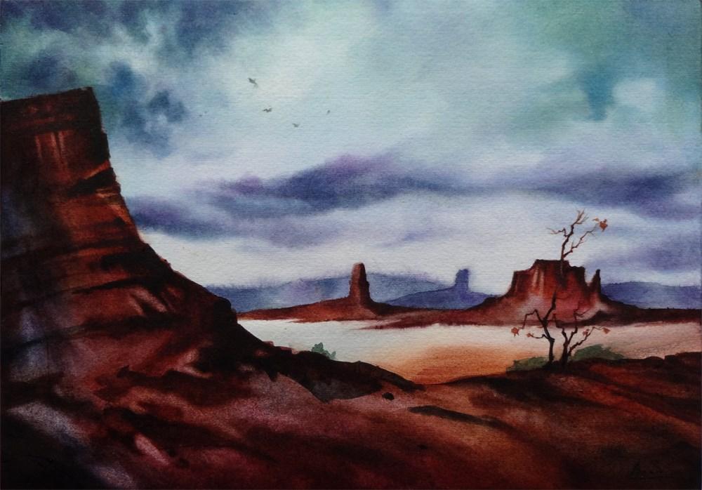 """""""Ancestor's Land"""" original fine art by Arena Shawn"""
