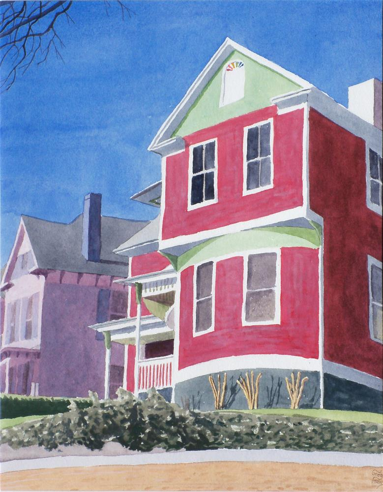 """317 & 321 Beverley Pl."" original fine art by Greg Arens"