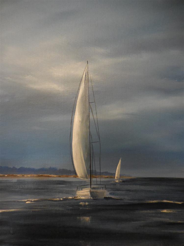 """Stormy Skies"" original fine art by Terri Nicholson"