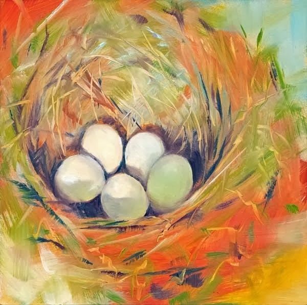 """Five in the Hole"" original fine art by Brenda Ferguson"