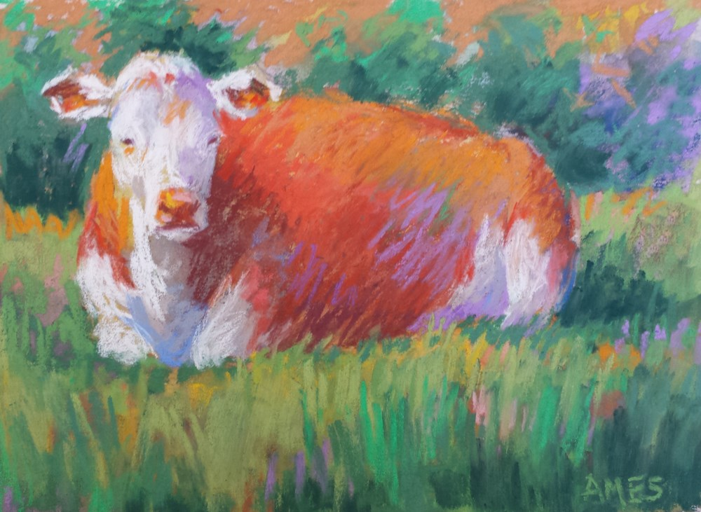 """Betsy's Celebration"" original fine art by Debra Ames"