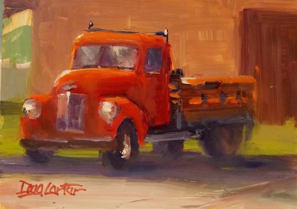 """BIG RED"" original fine art by Doug Carter"