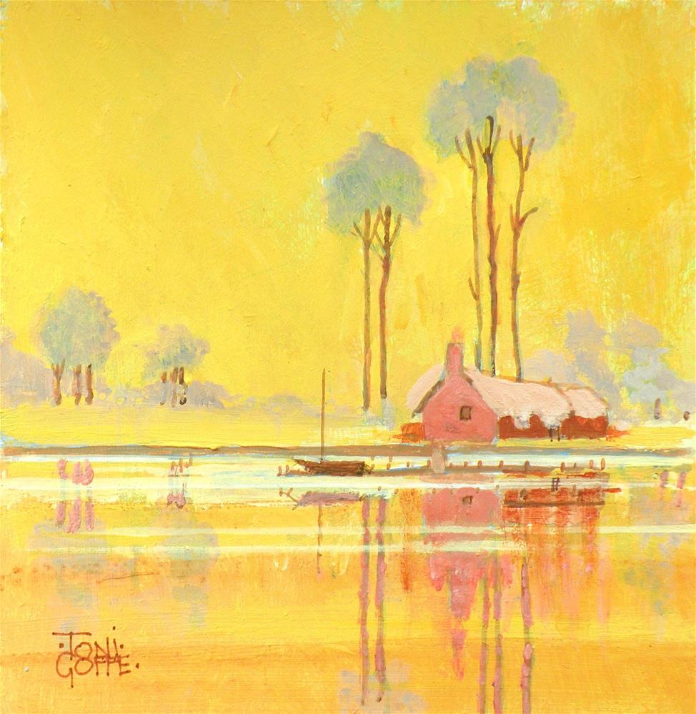"""Cottage Reflections"" original fine art by Toni Goffe"