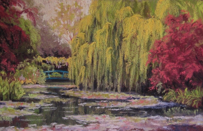 """Memories of Giverny"" original fine art by Ruth Mann"
