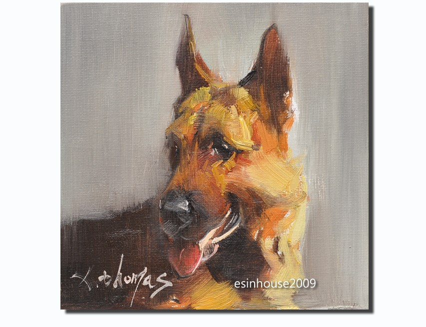 """German Shepherd"" original fine art by Thomas Xie"
