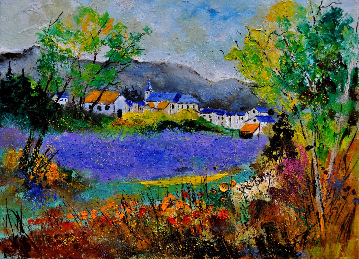 """Summer in Sosoye"" original fine art by Pol Ledent"