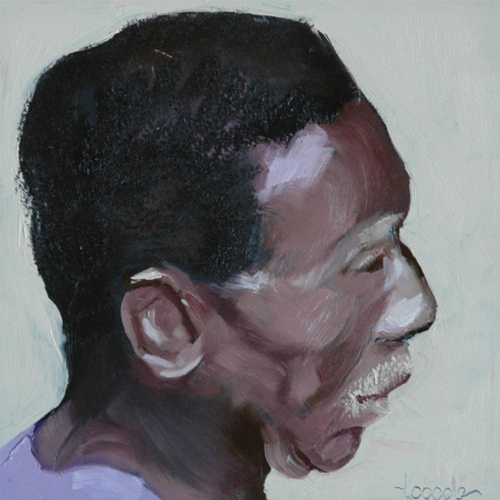 """""""FACE No. 80"""" original fine art by Linda Popple"""