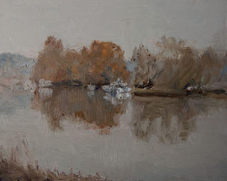 """Grey River"" original fine art by Jethro Knight"