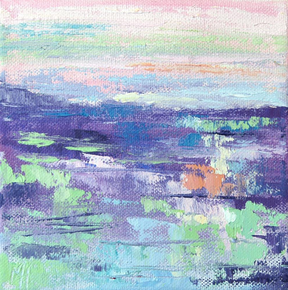 """Namibia Impressions 17 - Shimmering Horizon 2"" original fine art by Marion Hedger"