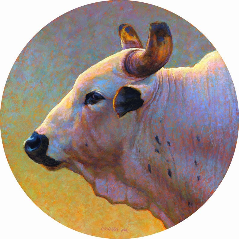 """Bull Profile #3"" original fine art by Rita Kirkman"