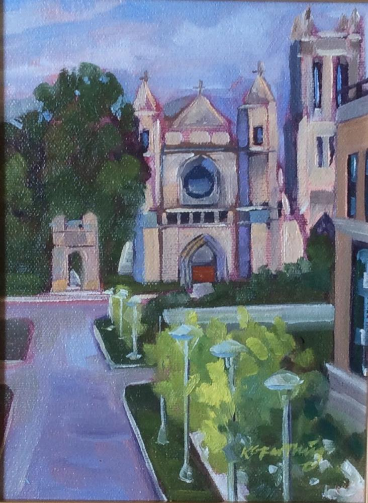 """The Church in My Window"" original fine art by Kathleen Gray Farthing"