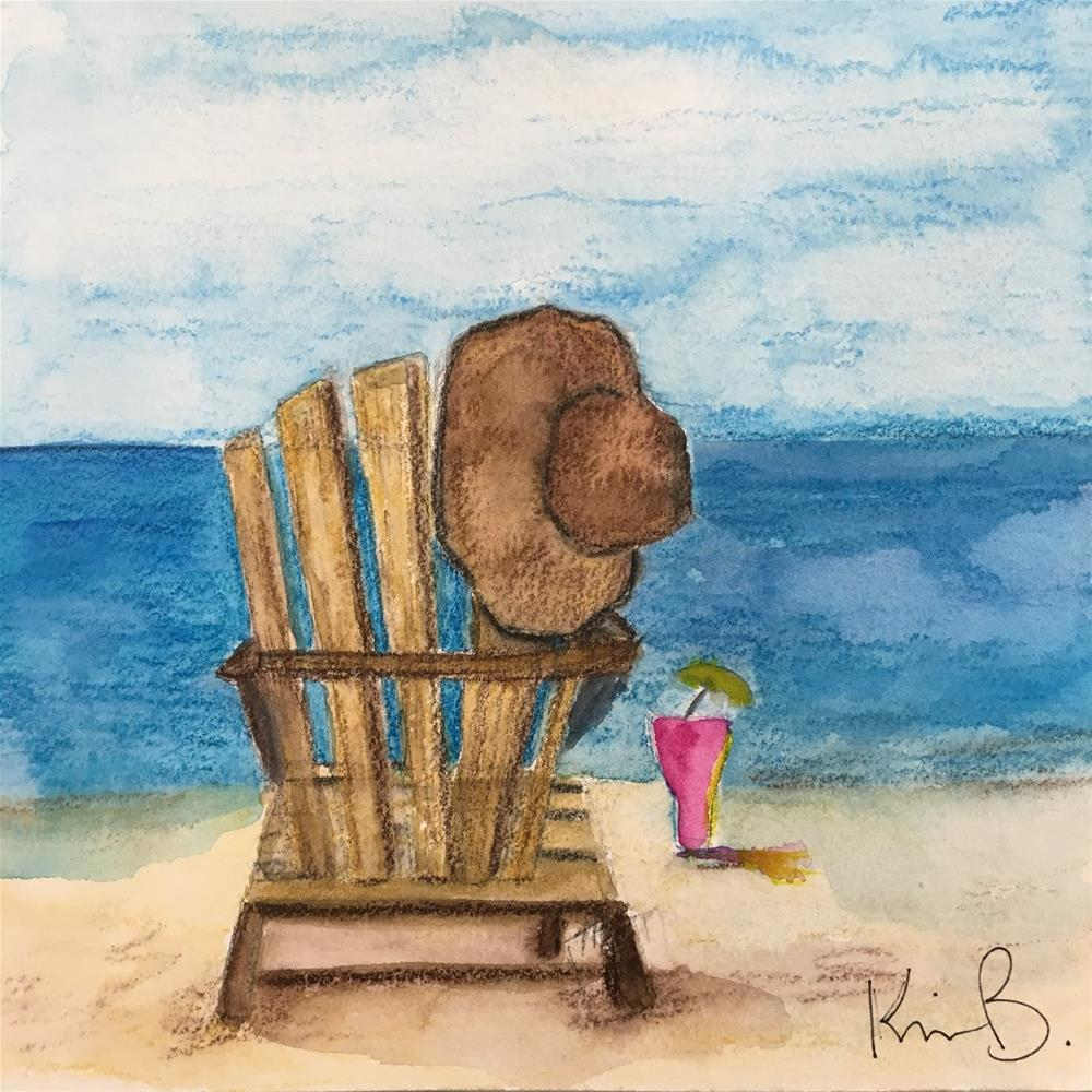 """Happy Hour Chair"" original fine art by Kimberly Balentine"