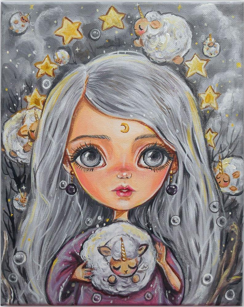 """Lullaby Sorceress"" original fine art by Nicole Chen"