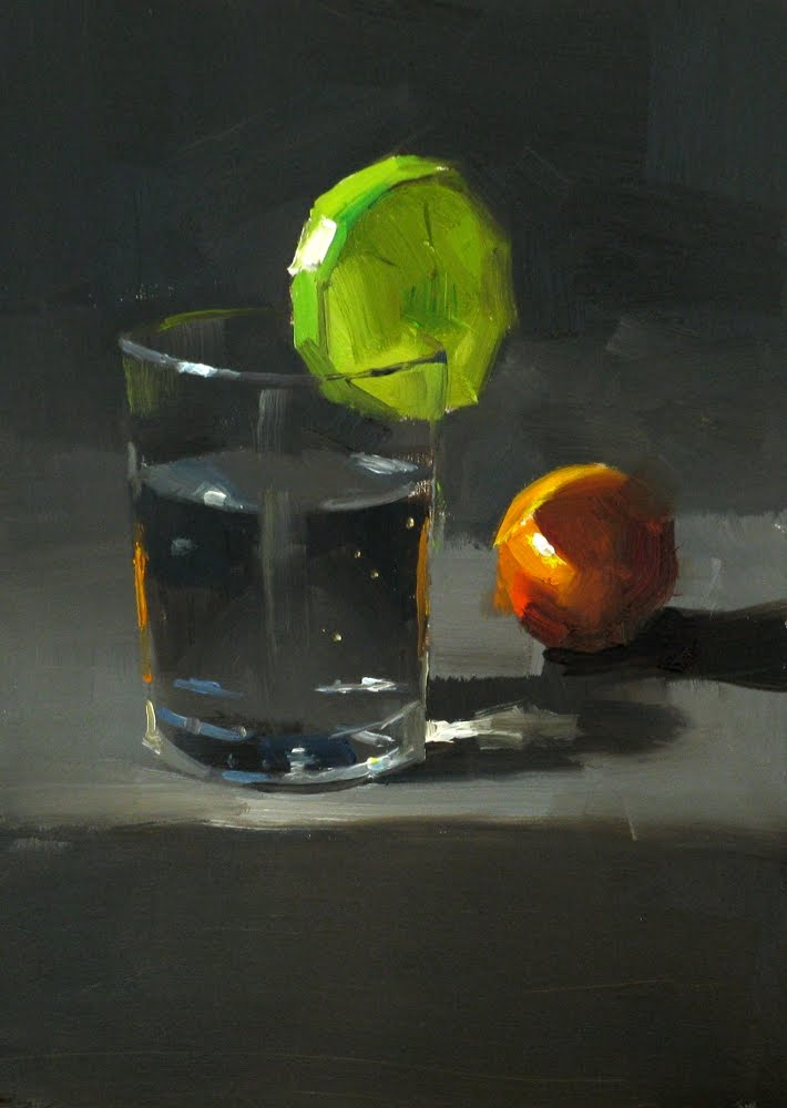 """Lime Water"" original fine art by Qiang Huang"
