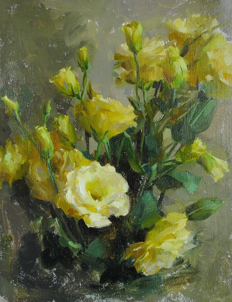 """Yellow Roses"" original fine art by Taisia Kuklina"
