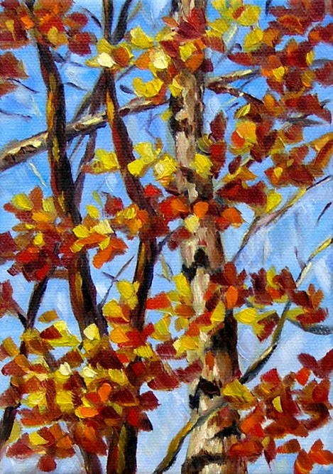 """Autumn's Palette"" original fine art by Irina Beskina"