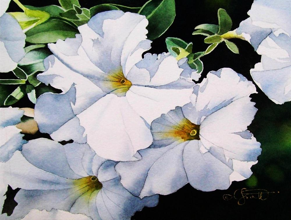 """Summer Whites"" original fine art by Jacqueline Gnott, TWSA, WHS"