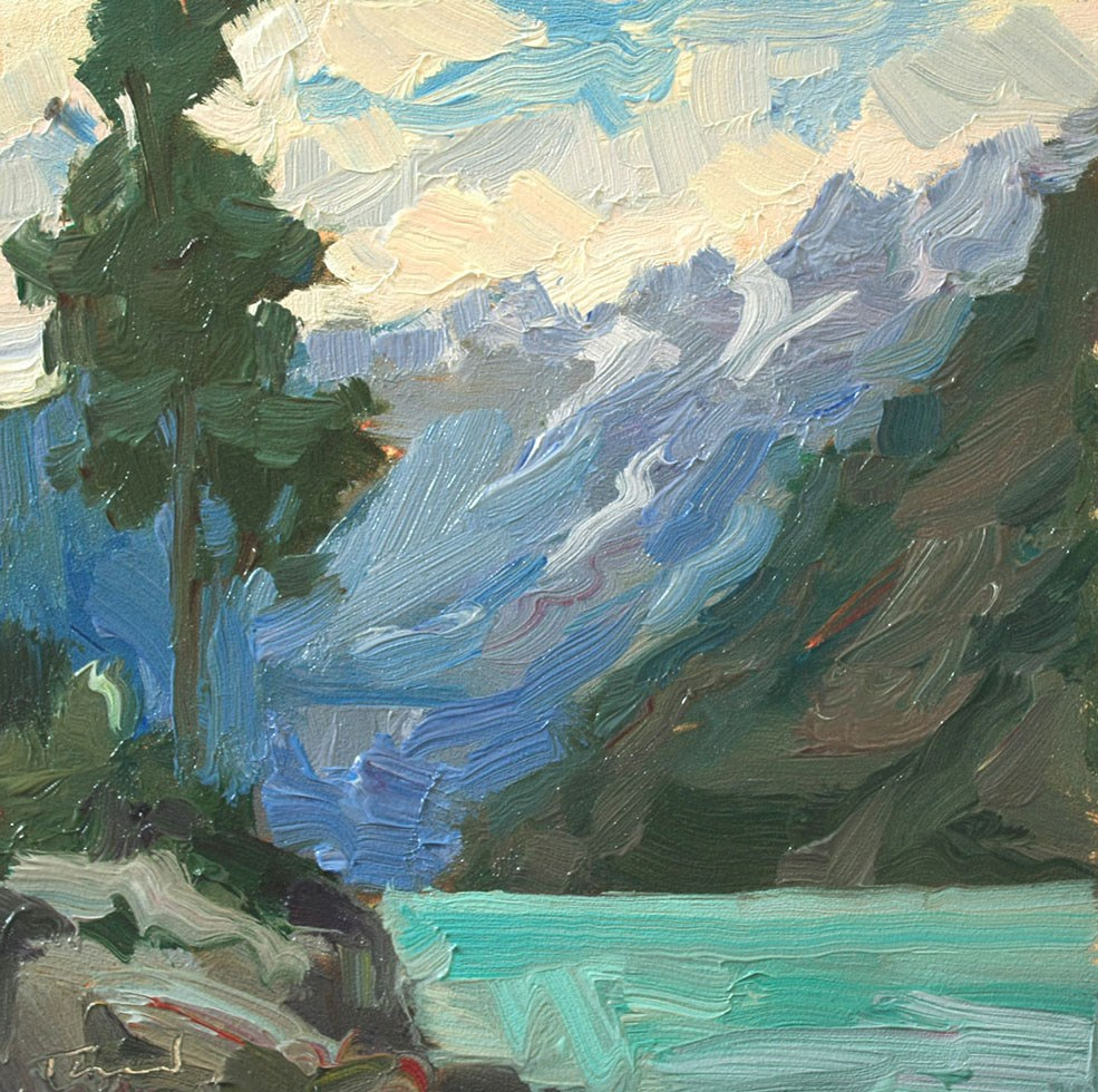 """Lake Chelan Storm Day"" original fine art by Kathryn Townsend"